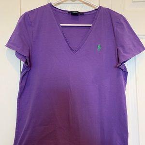 Ralph Lauren Sport - Women's XL T-shirt - Purple
